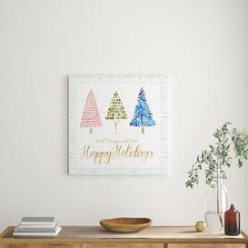 image-'Christmas Tree Whimsy I' Graphic Art on Wood