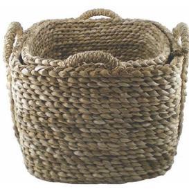 image-Bull Rush Log Basket August Grove Size: 40cm H x 50cm W x 50cm D
