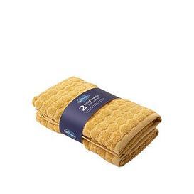 image-Silentnight Honeycomb 2 Pack Hand Towels