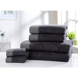image-6 Piece Towel Bale Symple Stuff Colour: Charcoal