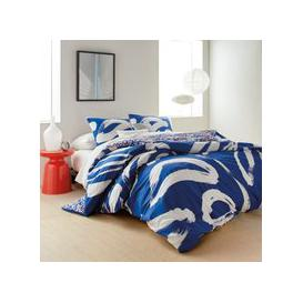 image-DKNY Abstract Floral Super Kingsize Duvet Cover, Blue