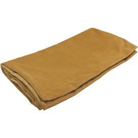 image-Matt Ochre Yellow Velvet Throw Blankets & Runners, Bed Runner (50cm x 165cm)