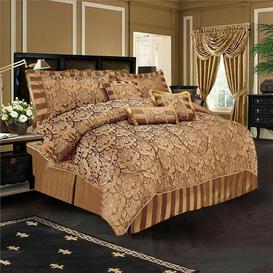 image-Dundas Bedspread Set with Pillows Astoria Grand Size: W220 x L220cm, Colour: Chocolate