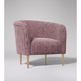 image-Swoon Cecily Armchair in Dusk Cord With Light Feet