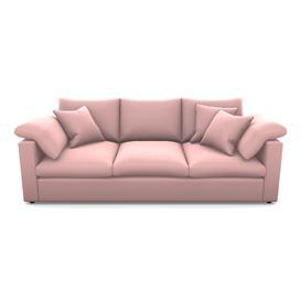 image-Big softie straight arm 4 Seater Straight Arm Sofa in Clever Matt Velvet- Blush