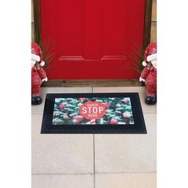 image-Santa Stop Here Light-Up and Sound Doormat
