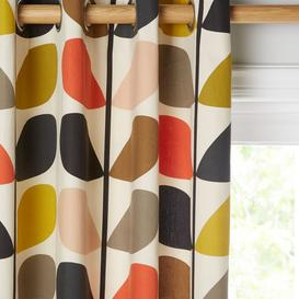 image-Orla Kiely Multi Stem Pair Lined Eyelet Curtains