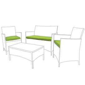 image-Garden Dining Chair Cushion Sol 72 Outdoor Colour: Lime