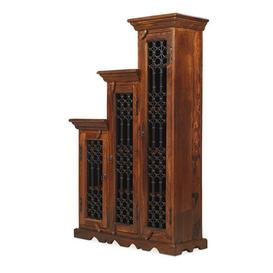 image-Zander Wooden Left Step CD DVD Unit Tall In Sheesham Hardwood