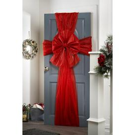 image-Bow and Ribbon Door Decoration