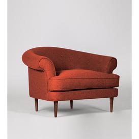 image-Swoon - Rennes - Armchair in Burnt Orange - Soft Wool