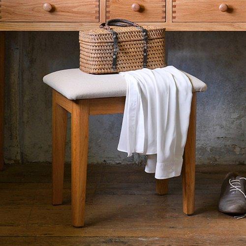 image-Milton Oak Dressing Table Stool