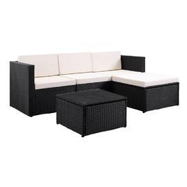 image-Geoghegan 3 Seater Rattan Corner Sofa Set Dakota Fields