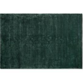 image-Merkoya Luxury Viscose Rug, Large 160 x 230cm, Peacock Green
