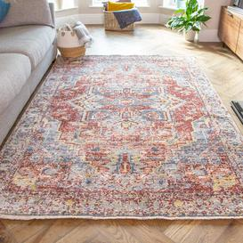 image-Soft Warm Terracotta Traditional Distressed Rug - Mystic