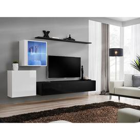 image-Brittani Switch XV Entertainment Unit Metro Lane Colour: White/White High Gloss/Black/Black High Gloss