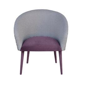 image-Plum Tub Chair Happy Barok Upholstery Colour: Violet