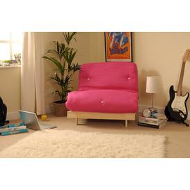 image-Kaitlynn 1 Seater Futon Chair Zipcode Design Upholstery Colour: Pink, Size: Single (3')