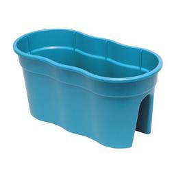 image-Plastic Balcony Planter KHW Colour: Turquoise