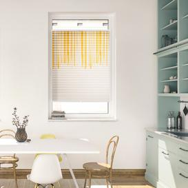 image-Flowing Honey Semi-Sheer Pleated Blind Ebern Designs Size: 130 cm L x 60 cm W
