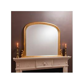 image-Thornby Gold 94x118cm Over Mantle Mirror Gold
