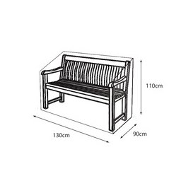 image-LG Outdoor 2 Seat Bench Deluxe Cover