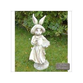 image-Solstice Sculptures Mrs Rabbit Garden Ornament Statue