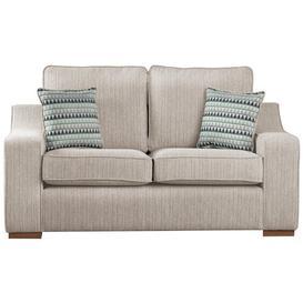 image-Bender 3 Seater Sofa Brambly Cottage Upholstery Colour: Voghera Beige, Throw Pillow Fabric: Maike Beige, Leg Colour: Dark Wood
