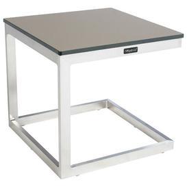 image-Samiya Aluminium Side Table Sol 72 Outdoor Table Top Colour: Dark Beige