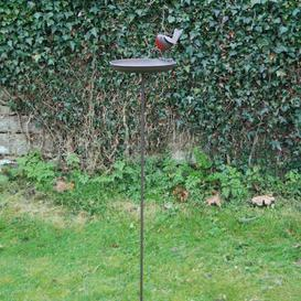 image-Robin Birdbath with stake Brambly Cottage