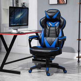 image-Jessup Gaming Chair Ebern Designs Colour: Black/Blue