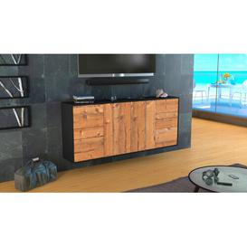 image-Lometa Sideboard Ebern Designs Colour (Body/Front): Anthracite/Pine