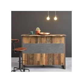 image-Merano Wooden Bar Unit In Old Wood And Matera Grey