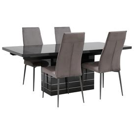 image-Versilia Extending Dining Table and 4 Martino Chairs