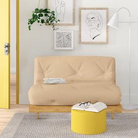 image-Kaitlynn 2 Seater Futon Sofa Zipcode Design Upholstery Colour: Natural, Size: Double (4'6)