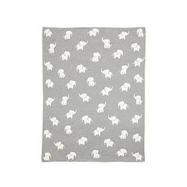 image-Mamas & Papas Knitted Blanket - Welcome To The World Elephant