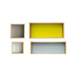 image-Vintage Multicoloured Wall Shelves (x4) Fjord