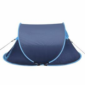 image-Pop Up Camping 2 Person Tent Freeport Park Colour: Navy Blue/Light Blue