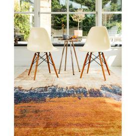 image-Asiatic Carpets Nova Machine Woven Rug Distress Orange - 160 x 230cm