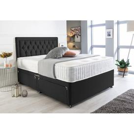 image-Mccarty Bumper Suede Divan Bed Willa Arlo Interiors Size: Small Double (4'), Storage Type: No Drawers