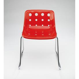 image-Loft Robin Day Sled Red Plastic Polo Chair