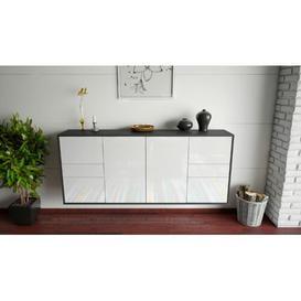 image-Lometa Sideboard Ebern Designs Colour (Body/Front): Anthracite/White