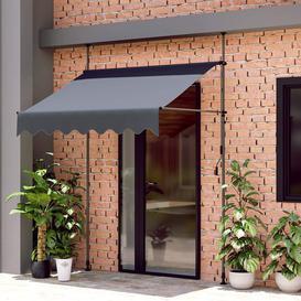 image-Alstone 2m x 1m Retractable Door Canopy with Support