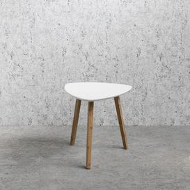 image-Side Table Malme Occasional in White and Natural Pine Medium