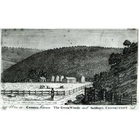 image-A Farm in Canaan, Connecticut, from 'Columbia Magazine', 1789 Graphic Art on Canvas Magnolia Box