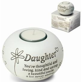 image-Said with Sentiment Ceramic Tealight Brambly Cottage