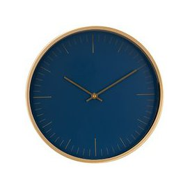 image-House by John Lewis Wall Clock, Navy/Brass, 30cm
