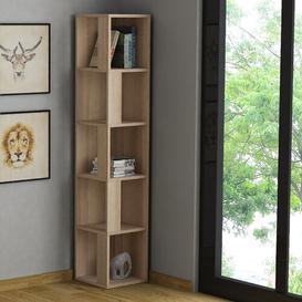 image-Cyril Corner Bookcase Zipcode Design Colour: Oak