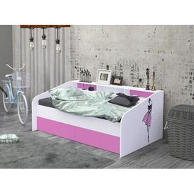 image-Nanterre Daybed Brayden Studio Colour: Pink, Size: European Single (90 x 200cm)