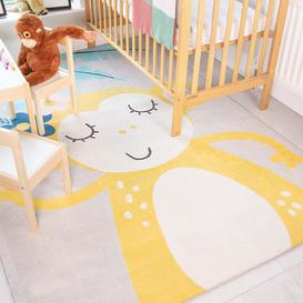 image-Fun Cute Monkey Soft Kids Bedroom Rugs  - Nino